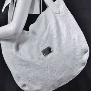 New VALENTINA Italy Leather Hobo Tote Bag Purse